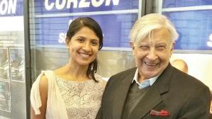 Sruti Harihara Subramanian with artist Krishen Khanna