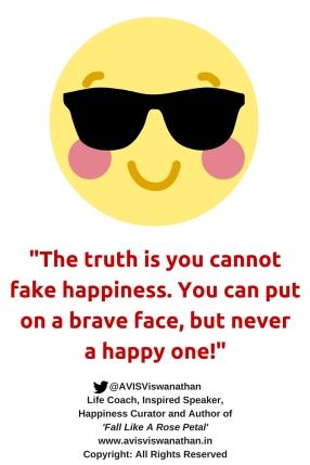 Can't fake happiness