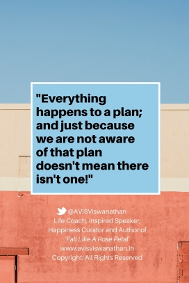 Everything happens to a plan