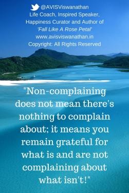 Non-Complaining