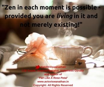 Zen in a cup of kahwah tea