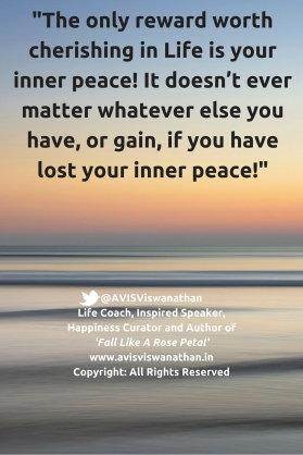 AVIS Viswanathan - The only reward in Life is Inner Peace
