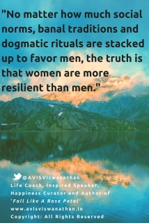 Women are more resilient than men