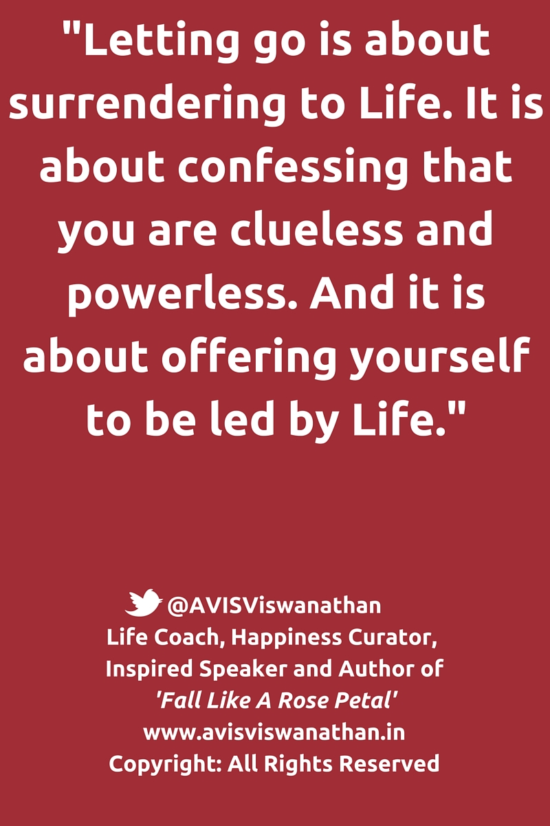 AVIS Viswanathan - Let Go is about offering yourself to be led by Life