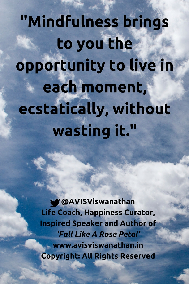 AVIS Viswanathan - Mindfulness is an opportunity to be ecstatic about Life