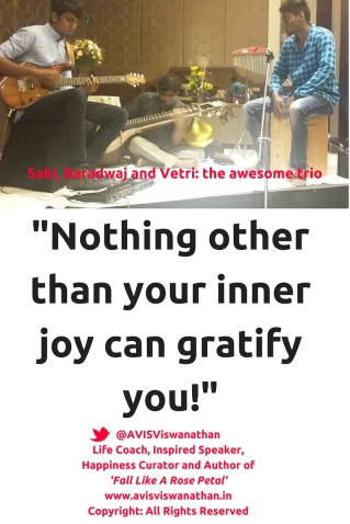 AVIS Viswanathan - Nothing other than your inner joy can gratify you!
