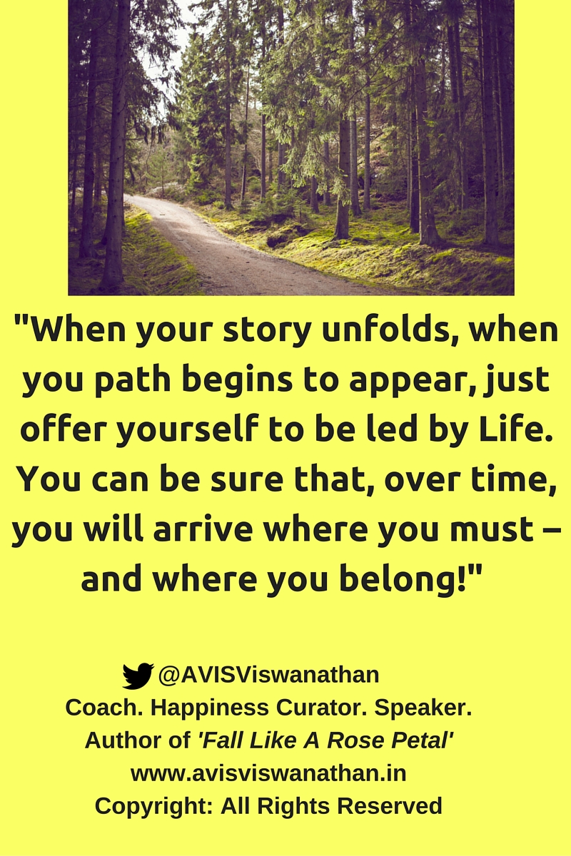 AVIS Viswanathan - Offer Yourself To Be led By Life