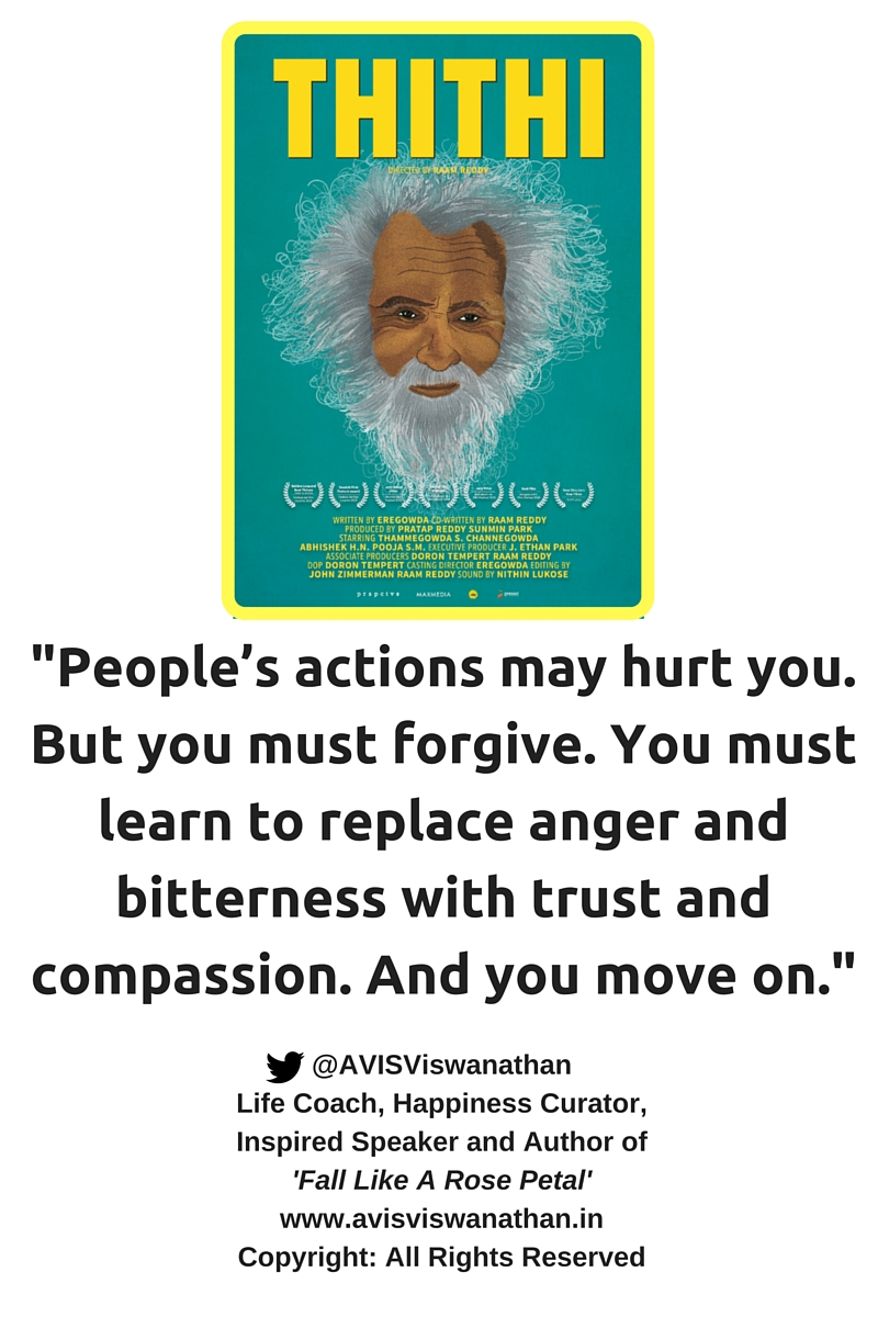 AVIS Viswanathan - People will hurt you but you must forgive and move on
