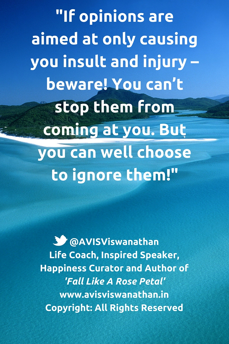 AVIS Viswanathan - You can choose to ignore opinions