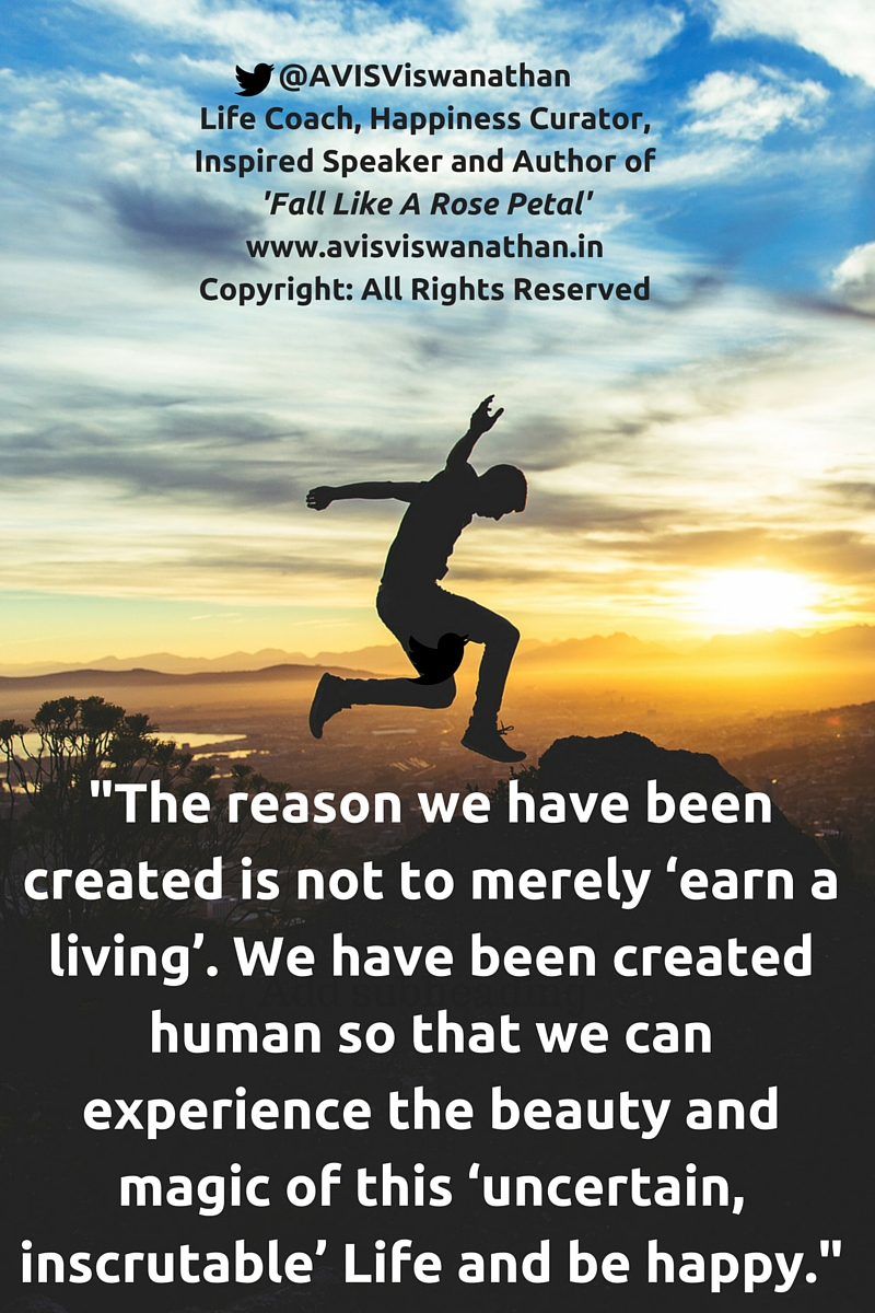 AVIS Viswanathan - You have been created to be happy