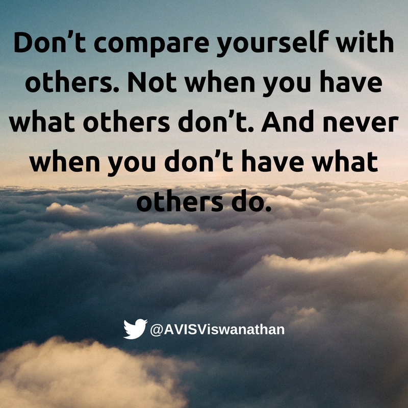 avis-viswanathan-dont-compare-yourself-with-others