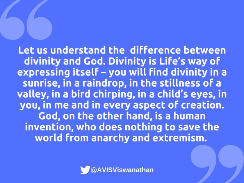 AVIS-Viswanathan-The-difference-between-divinity-and-God