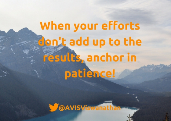 AVIS-Viswanathan-When-your-efforts-don't-add-up-to-the-results-anchor-in-patience