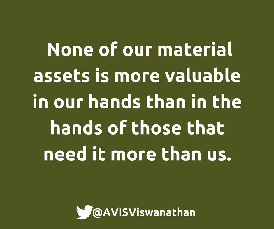 AVIS-Viswanathan-None-of-our-material-assets-is-more-valuable-in-our-hands-so-give-away