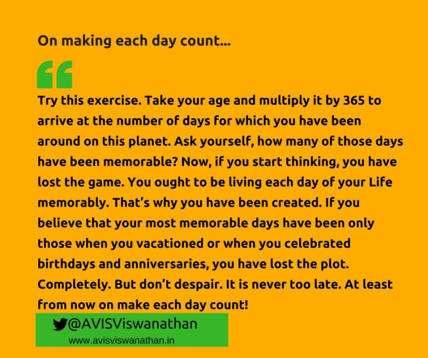 AVIS-Viswanathan-On-making-each-day-count