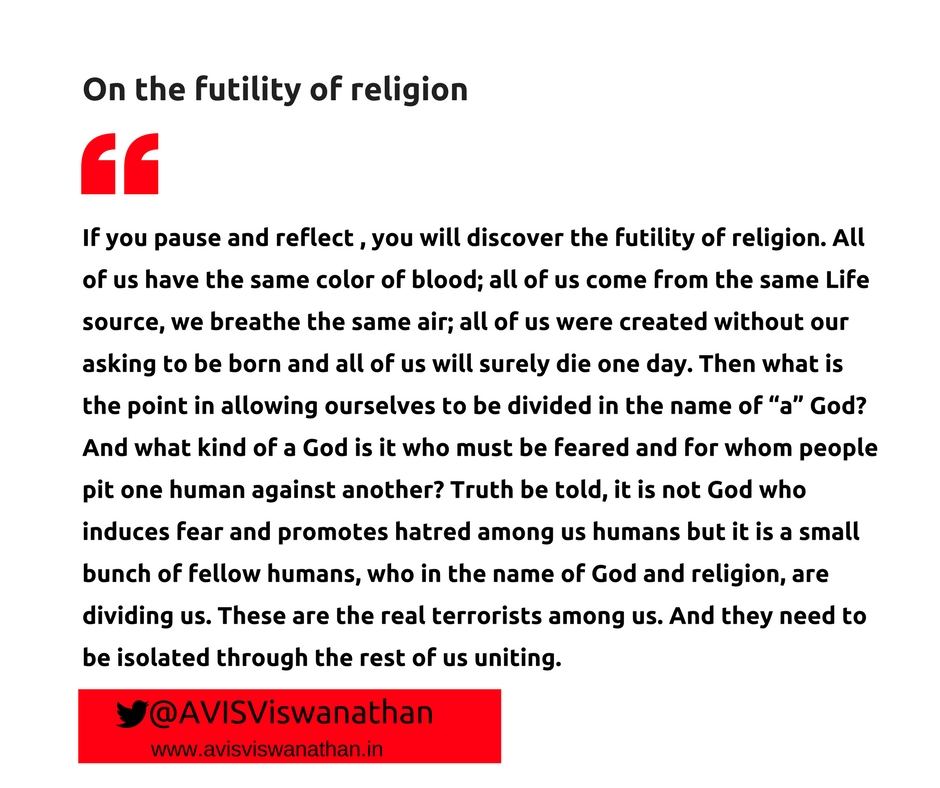 AVIS-VIswanathan-On-the-futility-of-religion